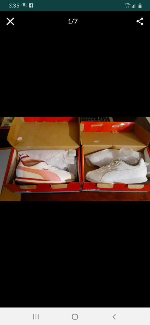 New shoes Girls size 3 puma never worn. They run small. Fits a 2 1/2.