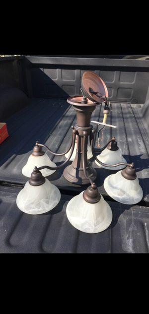Large ceiling light fixture brown/bronze color chandelier for Sale in Stockbridge, GA