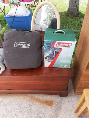 Coleman sleeping bag & coffee maker for Sale in Poinciana, FL