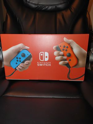Nintendo Switch Console w Neon Blue & Red Joy-Con for Sale in Savannah, GA