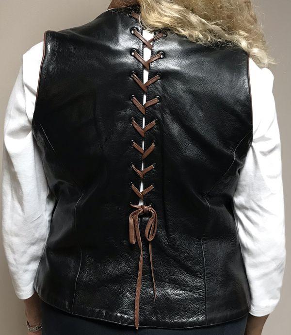 Harley Davidson motorcycle leather vest