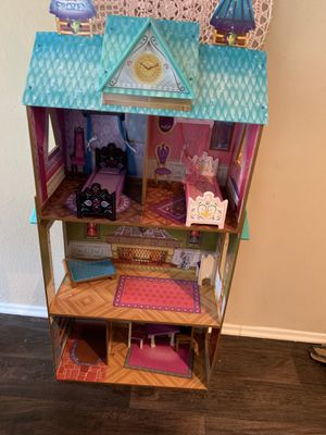 Elsa Anna wooden doll house for Sale in Orlando, FL
