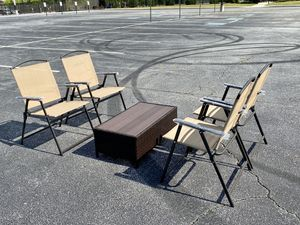 Floor Sample Outdoor Weatherproof Patio Coffee Table Set for Sale in Dunwoody, GA