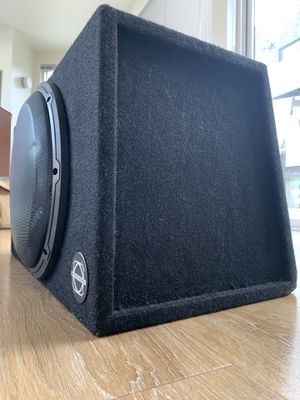 JL AUDIO 12W3v2 12 inch subwoofer and box for Sale in Seattle, WA