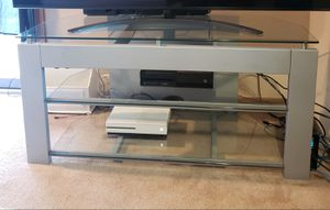 Large glass tv stand for Sale in Newark, OH