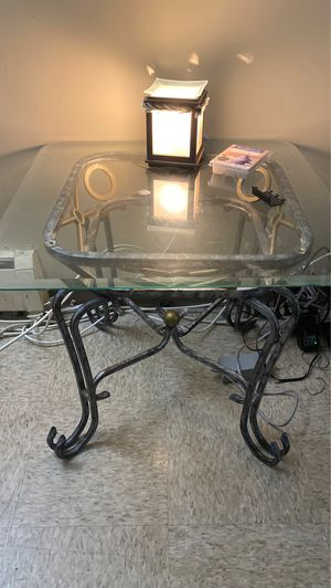 Glass End Tables (2) for Sale in Lawrence, MA