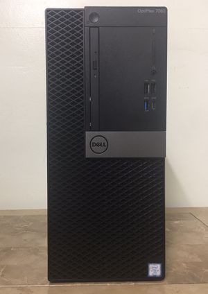 DELL Optiplex 7060 Midtower Core i7 Corei7 24GB RAM 512GB NVMe SSD 1TB HDD UHD GPU HDMI Windows 10 dual display desktop computer for Sale in Pembroke Pines, FL