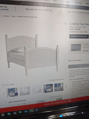 Pottery Barn Catalina Twin bed, white for Sale in Queens, NY