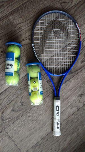 Tennis racket & tennis balls for Sale in Marietta, GA