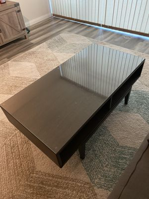 """Coffee table glass top 24x46"""" for Sale in San Diego, CA"""