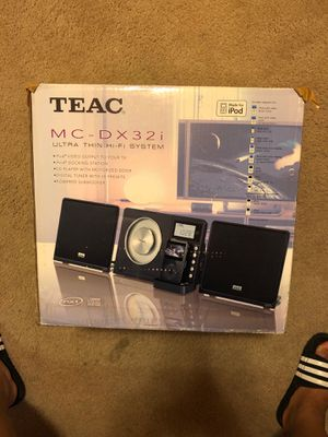 TEAC ultra thin HI FI System (MC-DX32i) for Sale in Oakland, CA