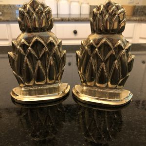 Vintage Solid Brass Pineapple Bookends PLEASE READ DESCRIPTION! for Sale in Mobile, AL