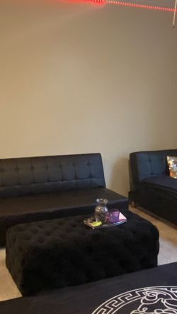 Faux Leather Reversible Sofa & Chaise for Sale in Atlanta,  GA