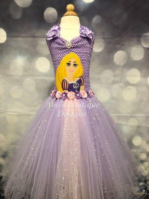 Rapunzel tutu dress for Sale in Houston, TX