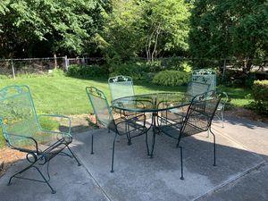 Vintage sunbeam 7 piece outdoor patio furniture for Sale in Northville, MI