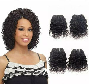 """Jerry Curl 10"""" Brazilian Wet And Wavy Human Hair 4 Bundles for Sale in Beaumont, TX"""