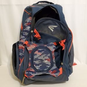EASTON Baseball/Softball 2 Bat Navy Red White Glove Zone Backpack Bat Bag Jan192003 for Sale in La Grange, IL