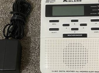 Working Midland S.A.M.E Digital Weather / All Hazards Alert Radio Model: 70310608 for Sale in Chapel Hill,  NC
