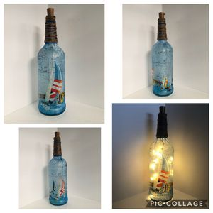 Lighted Bottle Decor Sailboats for Sale in Port Orange, FL