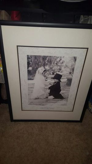 Kid Bride and Groom black and white photo framed for Sale in Poway, CA