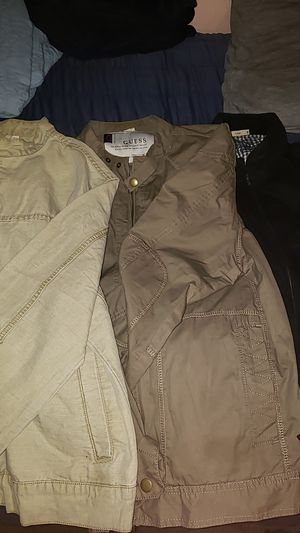 3 motorcycle style jackets size xl slim fit, 2 guess and 1 non branded for Sale in Cerritos, CA