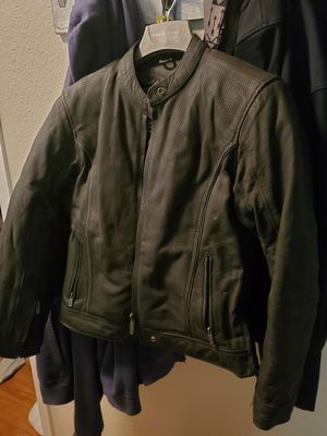 Heavy Leather Motorcycle Jacket - Medium for Sale in Lake Grove, OR