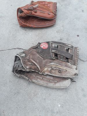 FATHER AND SON BASEBALL GLOVES for Sale in Los Angeles, CA
