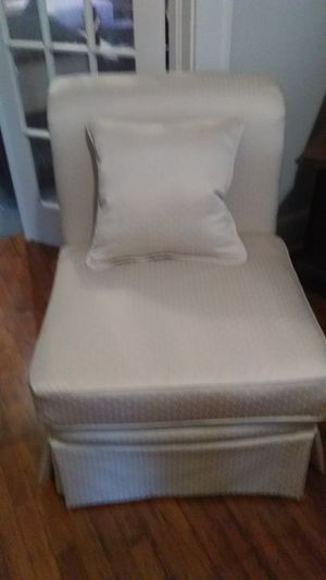 Ivory armless chairs. Brand new fabric. for Sale in Columbia, SC