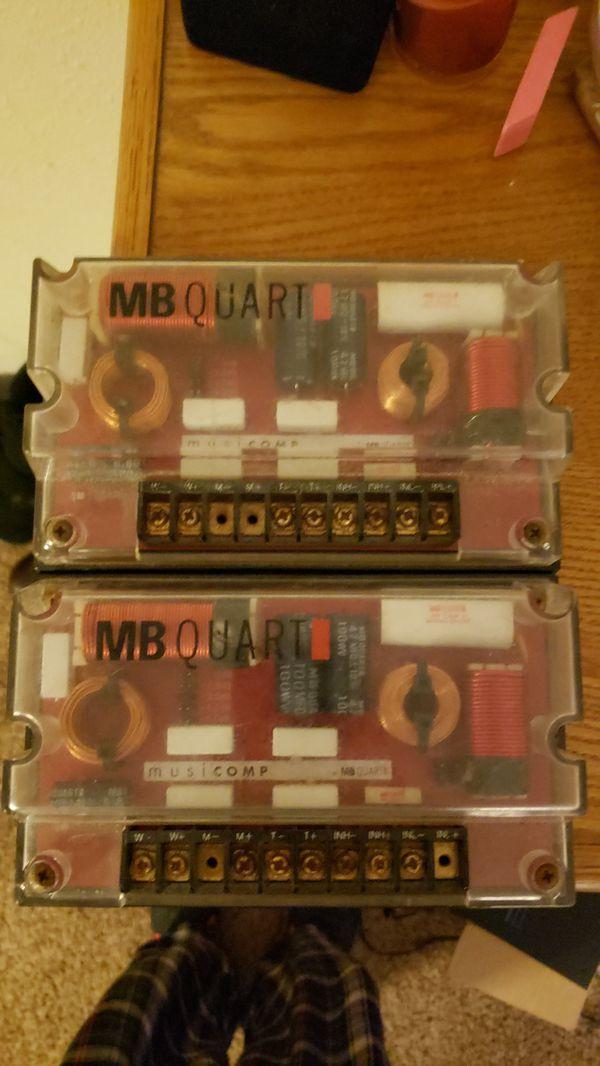 MB Quart crossovers