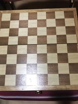 Chess & Checker Set town Oak. for Sale in Alexandria,  VA
