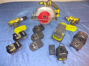 Ryobi set with brand new brushless saw for Sale in New Haven, CT
