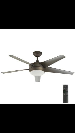 Home Decorators Collection Windward IV 52 in. LED Indoor Oil-Rubbed Bronze Ceiling Fan with Light Kit and Remote Control ($119) for Sale in Dallas, TX