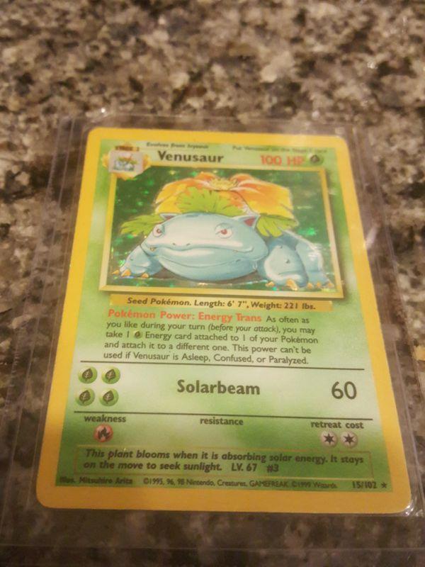 Venasaur Pokemon card Holographic