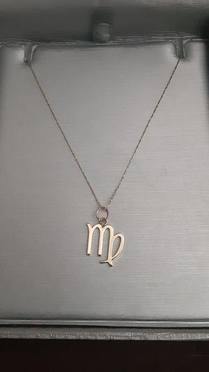 10k Gold Virgo Pendant necklace for Sale in Houston, TX
