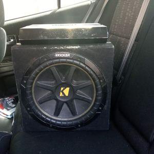 """Kicker Comp 10"""" With Box @ 500w Amp for Sale in Coronado, CA"""
