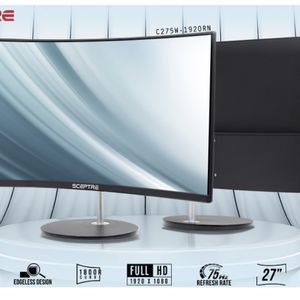 "Sceptre Curved 27"" 75Hz LED Monitor HDMI VGA Build-In Speakers, EDGE-LESS Metal Black 2019 (C275W-1920RN) for Sale in Los Angeles, CA"