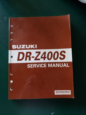 Suzuki DRZ-400S Motorcycle Service Manual for Sale in Las Vegas, NV