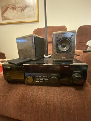 Kenwood k-stat AR-404 2.1 stereo receiver with speakers and radio antenna. for Sale in Aurora, IL