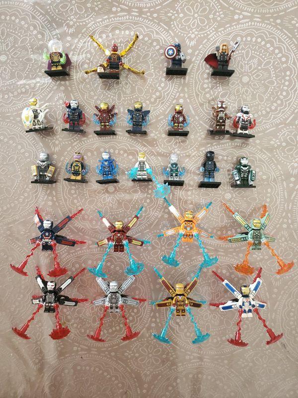 Iron Man. Thor. Spiderman. Captain America. Lego
