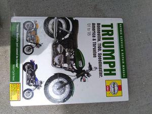Triumph motorcycle Haynes manual for Sale in Concord, CA