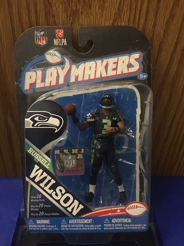 """""""COLLECTIBLE ITEM""""...NFL SEATTLE SEAHAWKS PLAY MAKERS 2013 (Russel Wilson action figure) McFARLANE TOYS"""