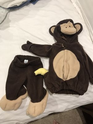 3-6 month baby Monkey costume for Sale in Bellevue, WA