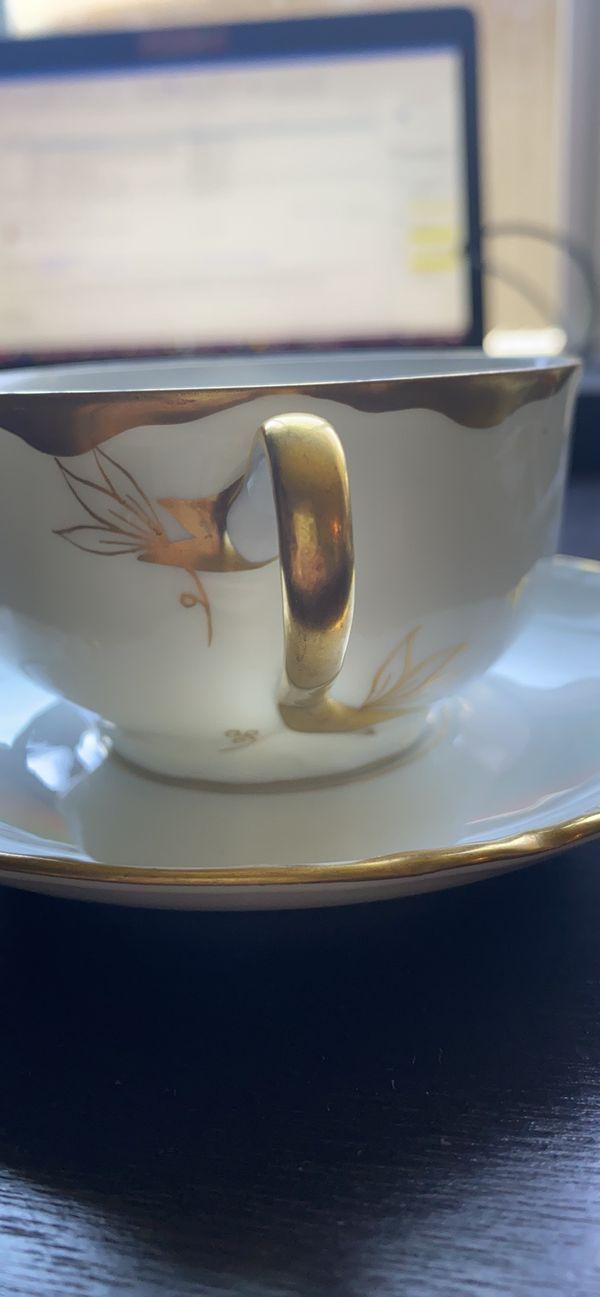Fraureuth Germany teacup and saucer set