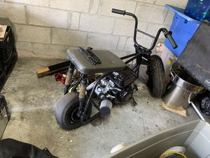 Mini bike frame only front and back suspension for Sale in Miami, FL