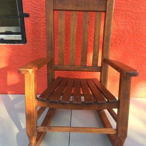 Natural Wood Kids Rocking Chair Rocker Sale for Sale in Fort Pierce, FL