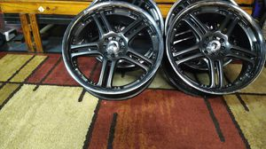 20 inch chrome and black chrome 4 lug universal rims for Sale in Tacoma, WA