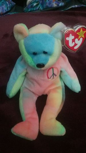 Peace bear by Ty beanie babies for Sale in Newport, TN