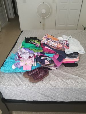 Clothes for girl size 6 and 7, and shoes, 62 pieces for Sale in Orlando, FL
