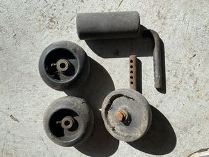 Mower deck wheels and roller for Sale in Mentor, OH