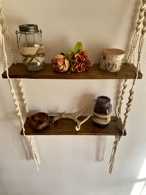 Rustic hand made 2 Tier hanging shelves for Sale in Port St. Lucie, FL
